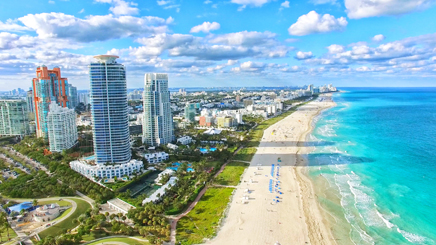 USA Floride Miami beach plage sable