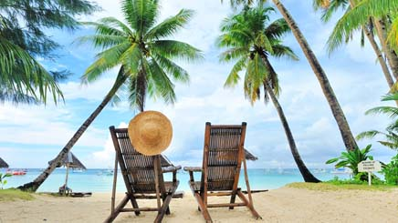 Philippines plages palmier chaise detente