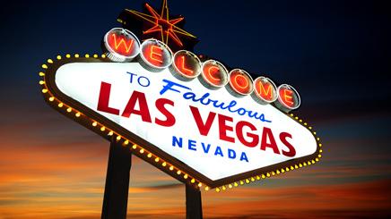 Las Vegas panneau lumiere