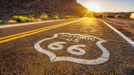usa-ouest-route-66-coucher-de-soleil