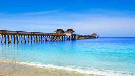 USA plage mer Bungalow bleu