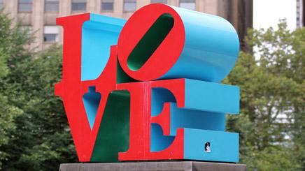 Love sculpture Philadelphie